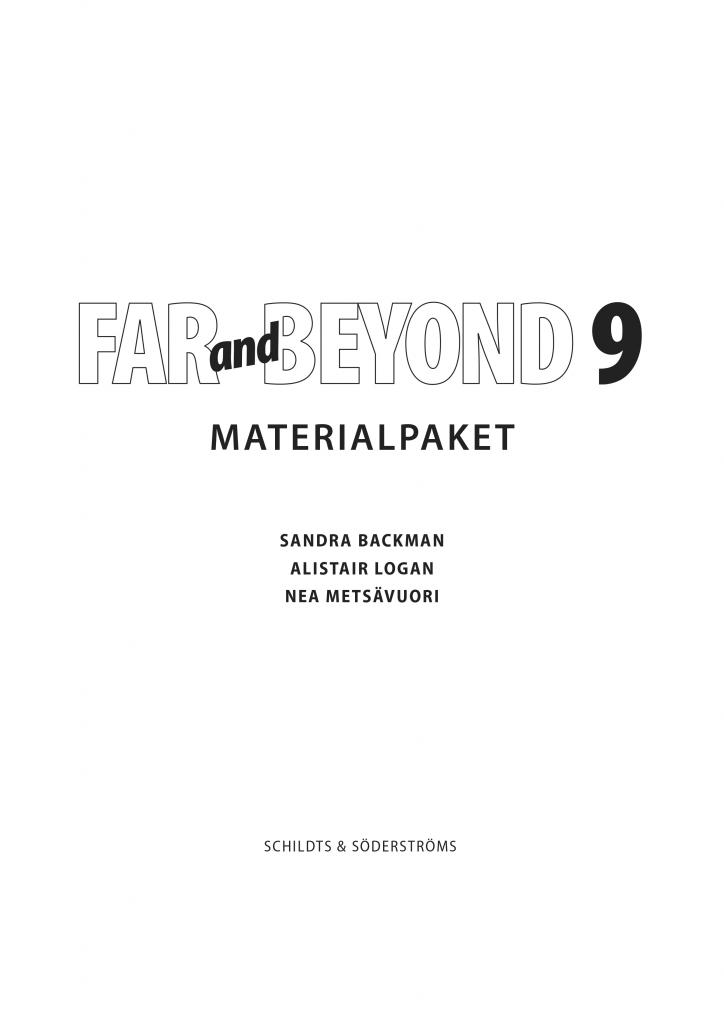 Far and Beyond 9 Materialpaket (pdf)