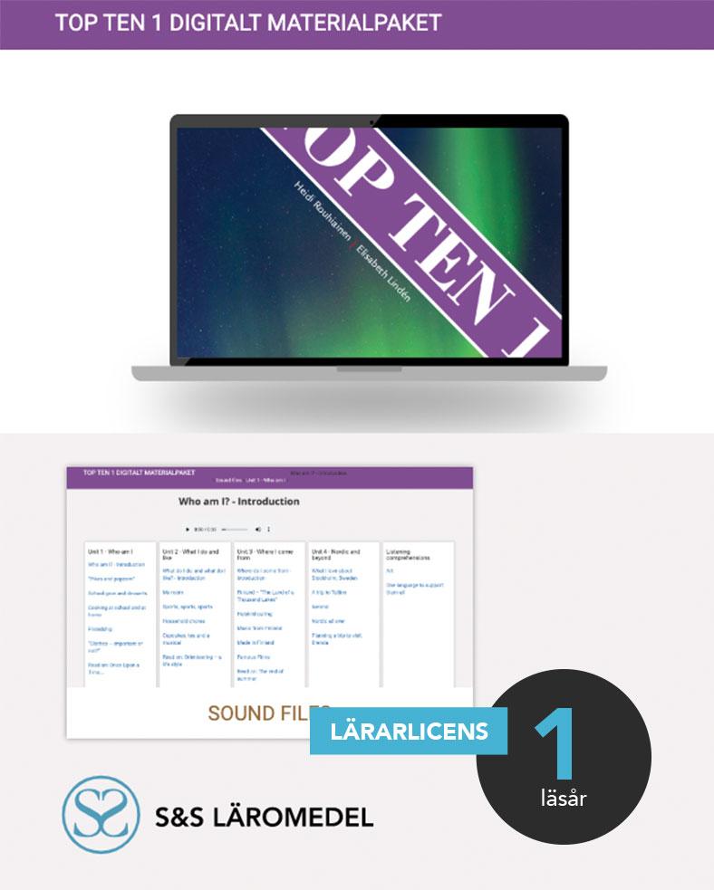 Top Ten 1 Digitalt materialpaket, skola, läsår