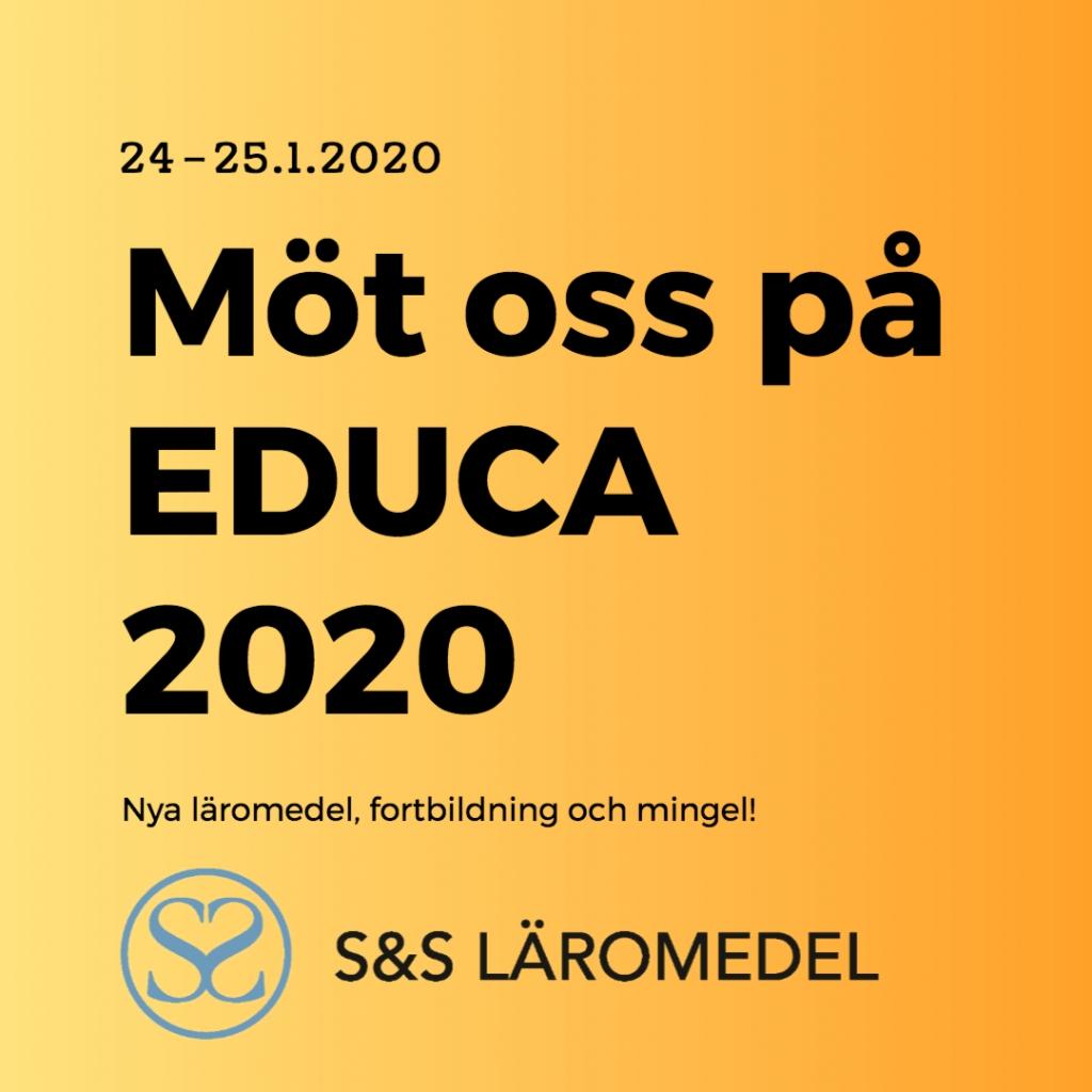 Välkommen till Educa 2020! Se våra workshoppar!